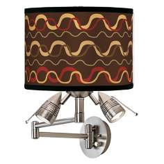 Wave Stitch Giclee Swing Arm Wall Light