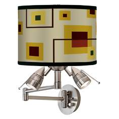 Windows Giclee Swing Arm Wall Light
