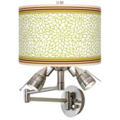 Stacy Garcia Lemongrass Dahlia Giclee Swing Arm Wall Light