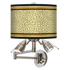 Stacy Garcia Avocado Dahlia Giclee Swing Arm Wall Light