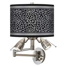 Stacy Garcia Metropolitan Dahlia Giclee Swing Arm Wall Light