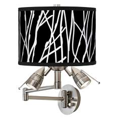 Stacy Garcia Twiggy Black Giclee Swing Arm Wall Light