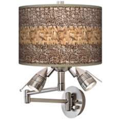 Woven Fundamentals Giclee Swing Arm Wall Light