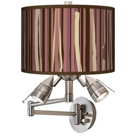 Kalahari Lines Giclee Swing Arm Wall Light