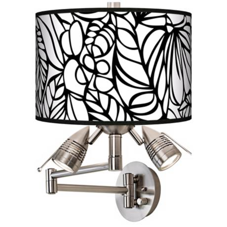 Jungle Moon Giclee Swing Arm Wall Light