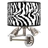 Safari Zebra Giclee Swing Arm Wall Light