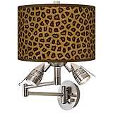 Safari Cheetah Giclee Swing Arm Wall Light