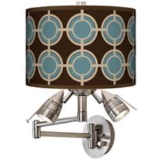 Stacy Garcia Porthole Giclee Swing Arm Wall Light
