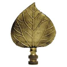 Aspen Leaf Antique Metal Finial