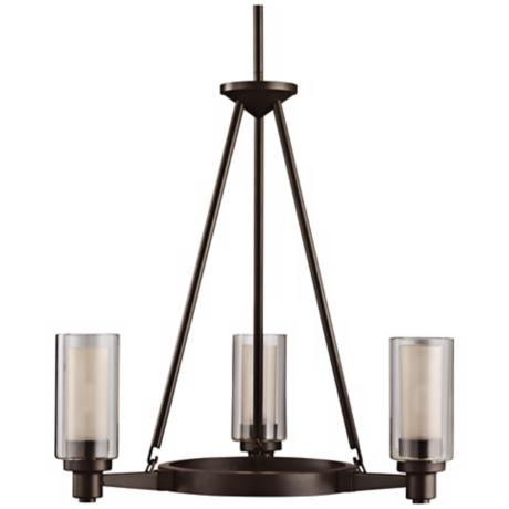 "Circolo Collection Olde Bronze 22"" Wide Chandelier"