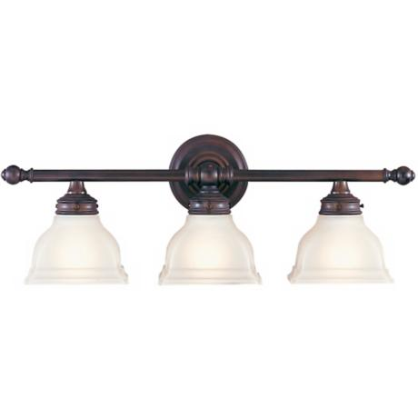 "Murray Feiss New London 25"" Wide Bronze Bathroom Fixture"