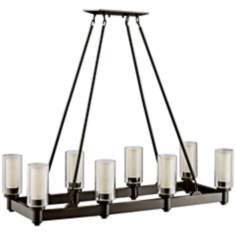 Circolo Collection Olde Bronze Large Contemporary Chandelier