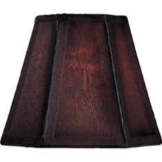 Hexagon Brown Parchment Lamp Shade 3x5x5 (Clip-On)