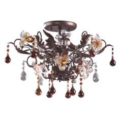 "Ghia Collection 19"" Wide Ceiling Light Fixture"
