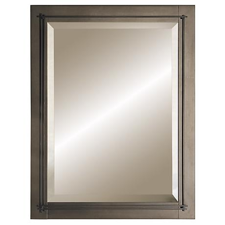"Hubbardton Forge Metra  Bronze 27 3/4"" High Wall Mirror"