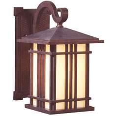 "Prairie House Collection 11 1/2"" High Outdoor Wall Light"