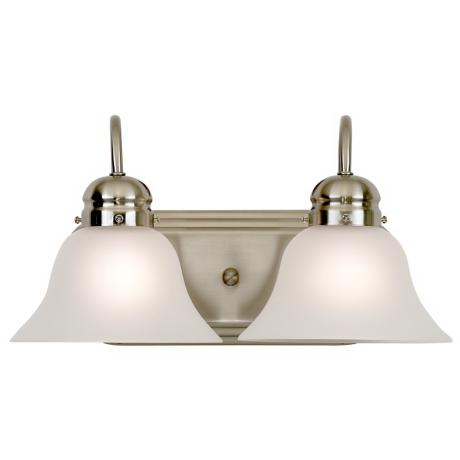 "Park Row Collection 16"" Wide Two Light Bathroom Fixture"