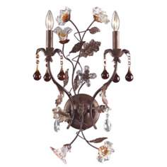 "Ghia Collection 14"" High Double Arm Wall Sconce"