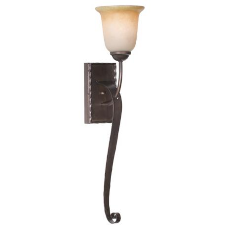 "Aspen Collection 25"" High Scroll Arm Wall Sconce"