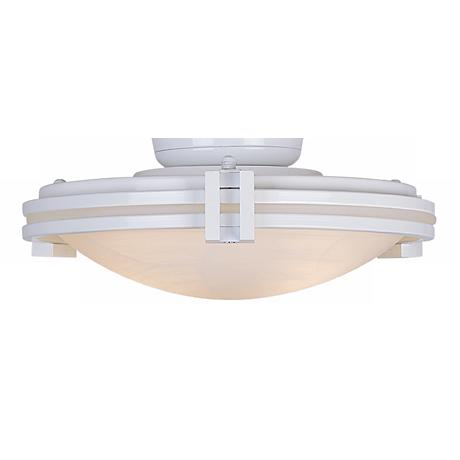 White and Alabaster Pull Chain Ceiling Fan Light Kit