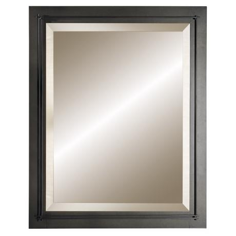 "Hubbardton Forge Metra Dark Smoke 32 1/4"" High Wall Mirror"
