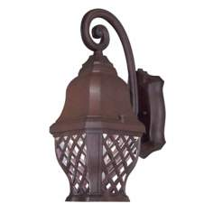 "British Isle 14 3/4"" High Bronze Outdoor Wall Light"