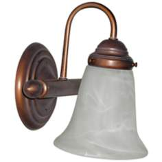 "Bronze 8 1/2"" High Bathroom Wall Light"