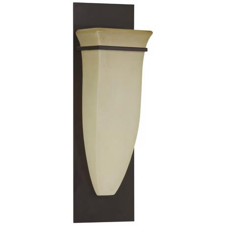 "Half Moon Bronze Finish 16"" High Wall Sconce"