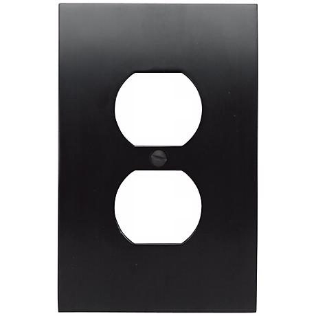 Zephyr Black Finish Convex Wall Plate