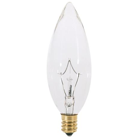 Satco 60-Watt Clear Torpedo Candelabra Light Bulb
