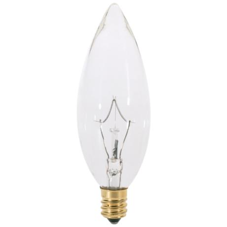 60-Watt Clear Torpedo Candelabra Light Bulb