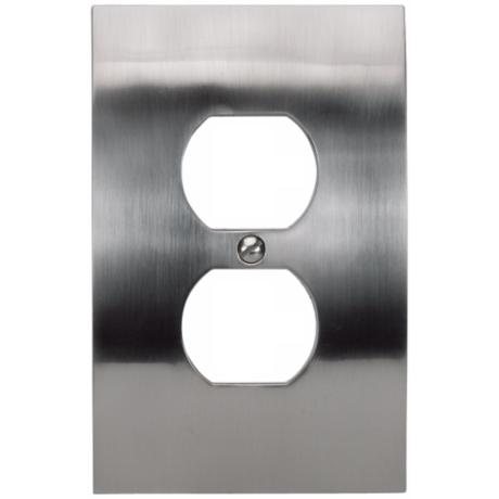 Zephyr Brushed Nickel Finish Convex Outlet Wall Plate
