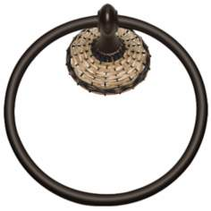 "Hamptons Oil-Rubbed Bronze 6"" Wide Towel Ring"