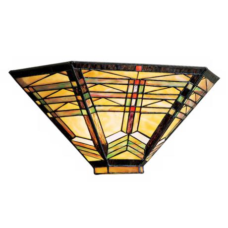 "Geometric Art Glass 16"" Wide Sconce"
