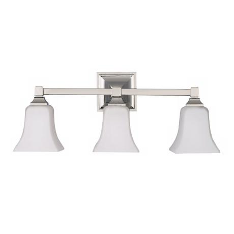 American Foursquare Three Light Bath Wall Light Fixture
