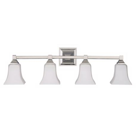 American Foursquare Four Light Bath Wall Light Fixture