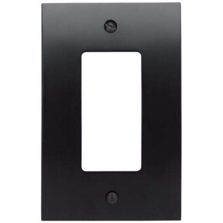 Zephyr Black Single Rocker Convex Wall Plate