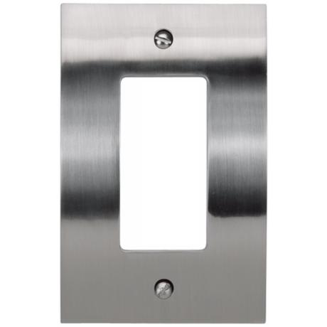 Zephyr Brushed Nickel Single Rocker Convex Wall Plate