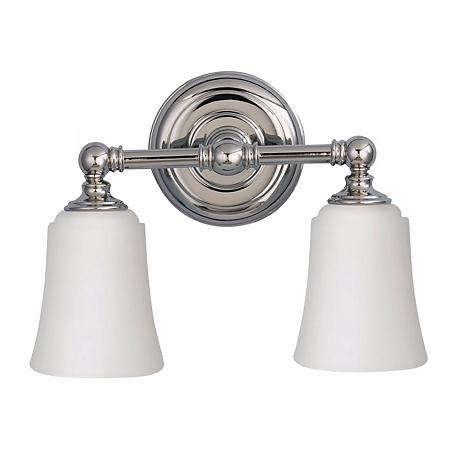 Feiss Hugenot Lake Two Light Bath Wall Light Fixture