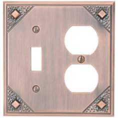 Craftsman Combination Copper Wall Plate