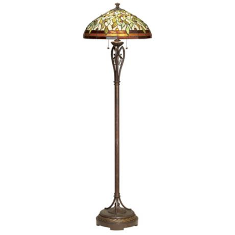 Leaf and Vine Tiffany Style Floor Lamp
