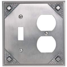 Craftsman Combination Pewter Finish Wall Plate