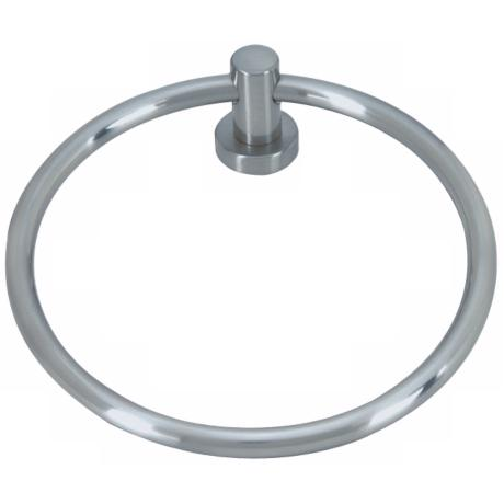Linea Brushed Nickel Towel Ring