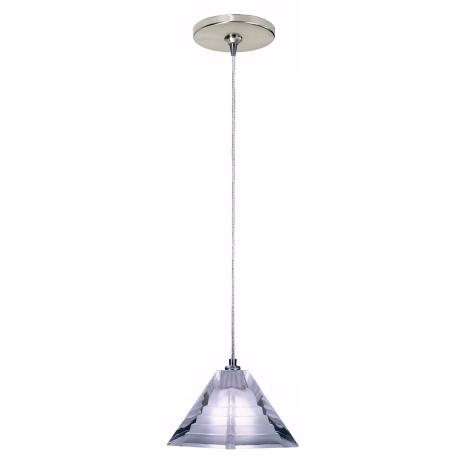 Pyramid Collection Pressed Frost Glass Tech Lighting Mini Pendant