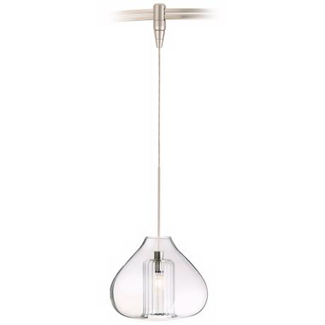 Cheer Single Globe Satin Nickel Tech Lighting MonoRail Pendant