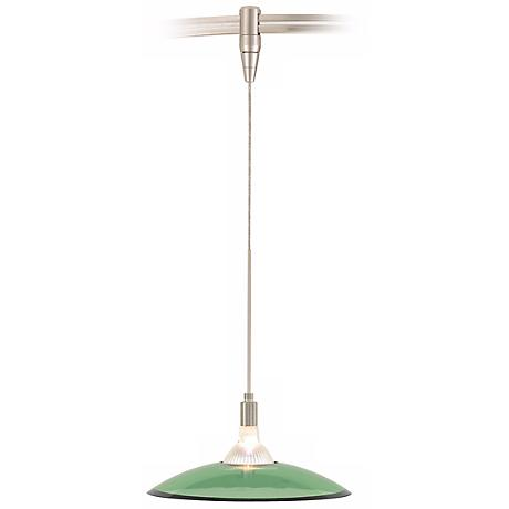 Diz Olive Green Satin Nickel Tech Lighting Track Light Pendant