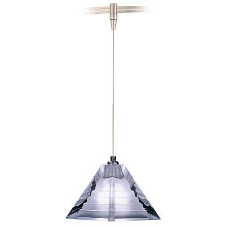Pressed Frost Glass Pyramid Tech Lighting MonoRail Pendant