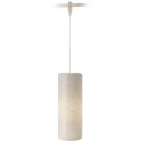 Veil White Glass Satin Nickel LED Tech Lighting MonoRail Pendant