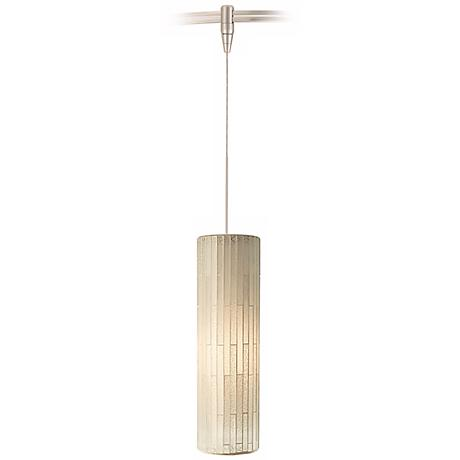 Peyton White Glass Satin Nickel Tech Lighting MonoRail Pendant
