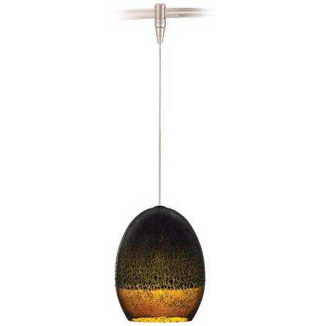 Silver Glaze Brown Nickel LED Tech Lighting MonoRail Pendant